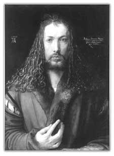 Дюрер. Автопортрет 1500 г.