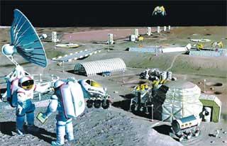 Такой видят лунную базу американцы (NASA)
