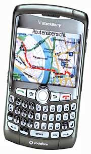 BlackBerry Curve 8310 – последняя модель с навигатором