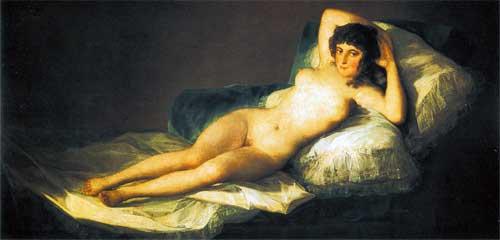 Обнаженная маха. 1800 год. Музей Прадо, Мадрид.