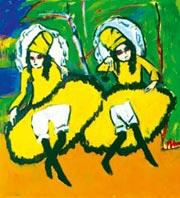 Э.Л. Кирхнер, 'Две танцовщицы'