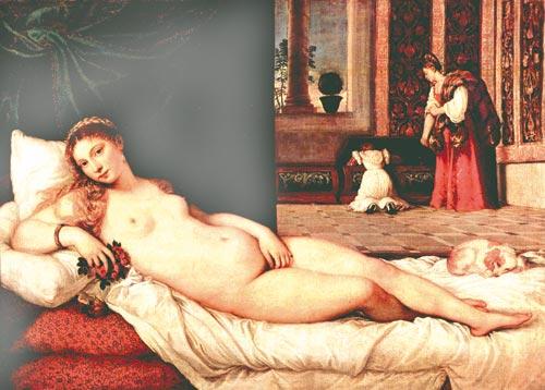 Тициан. «Венера Урбинская»
