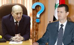 Премьер-министр Израиля Эхуд Ольмерт (слева) и Президент Сирии Башар Асад (справа)
