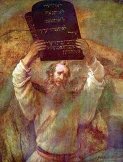 Рембрандт Харменс ван Рейн  ''Моисей, разбивающий скрижали Завета''   1656 г. Берлин, картинная галерея.