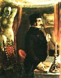 Николай Александрович Бестужев ''Портрет Ф.Б. Вольфа'' 1842 г.