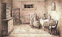 Карл Петер Мазер  «Камера Ф.Б. Вольфа в Петровском заводе».  1849-1850 гг.
