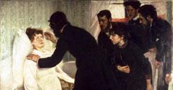 Фрагмент катины Ричарда Берга  ''Сеанс гипноза'', 1887 г.