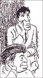 И.Эренбург и Б.Пастернак.Кукрыниксы