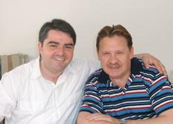 Вячеслав Лисин (справа) и председатель Совета иностранцев Дюссельдорфа Янис Ваталис