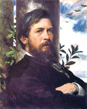 Арнольд Бёклин. Автопортрет. 1873