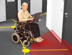 Робот-кресло ROLAND в процессе обучения
