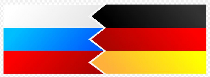 флажки Германии и России