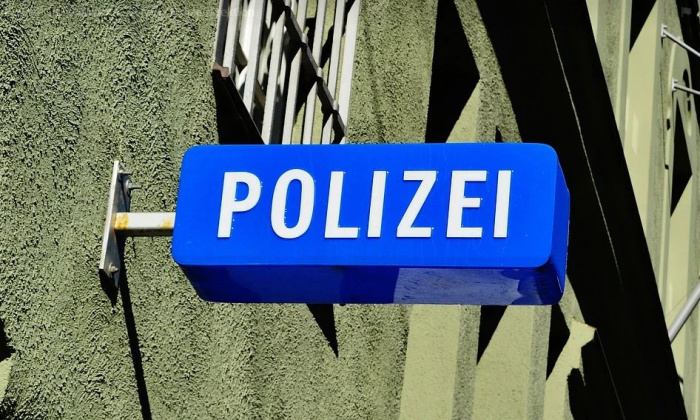 фонарь на полицейском участке