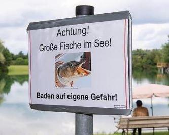 табличка на берегу озера