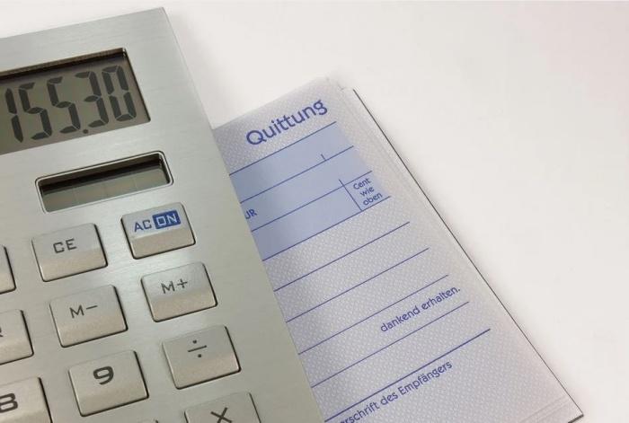 калькулятор и квитанция