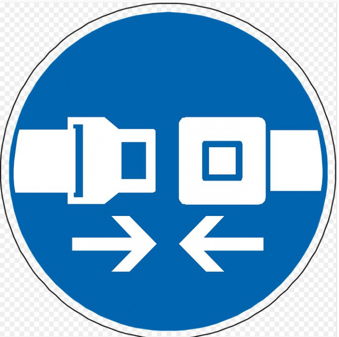 """дорожный знак """"ремень безопасности"""""""